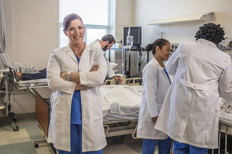 Nursing Students and equiment